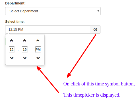 Customize Time Picker from Bootstrap Time Picker Plugin to add