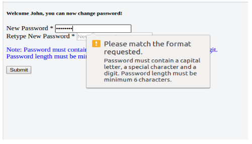 Compare Passwords in HTML5 form validation using Jquery