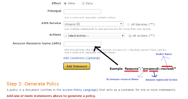 AWS | How to auto generate S3 Policy
