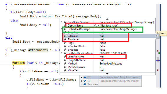 Handling attachments in IndependentSoft MSG NET package