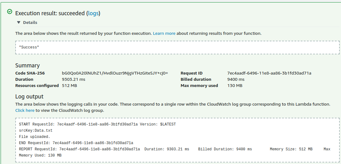 Using AWS Lambda function in Java to communicate with AWS S3