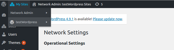 Multisite network through code in WordPress