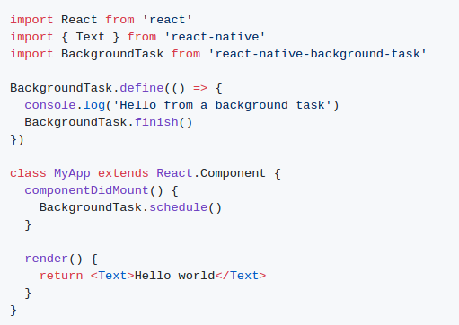 How to run Background services in React Native app