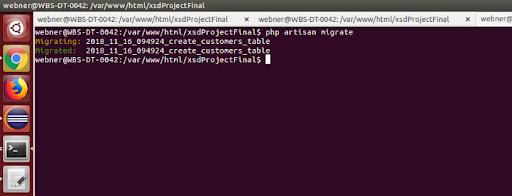 Database Migration in Laravel