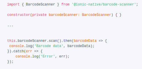 How to get scan QR Code or Barcode in Ionic app