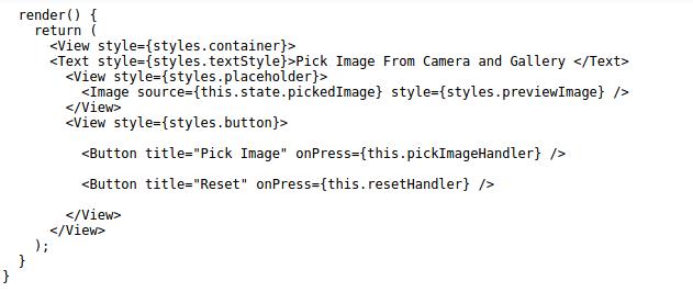 camera in React Native
